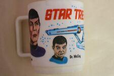 Vintage 1975 Star Trek Advertising Mug Mr. Spock McCoy Kirk Enterprise