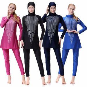 Modest Muslim Islam Swimwear Swimsuit Burkini Beachwear Girl Lady Burqini Lady