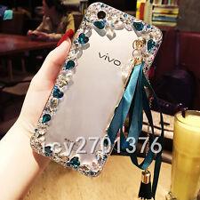 Glitter Crystal Bling Rhinestone Diamonds tassel pendant Soft TPU Case Cover #A