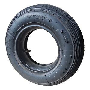 Schubkarrenreifen inkl. Schlauch 4.80/4.00-8 abgewinkeltes Autoventil max.250 kg