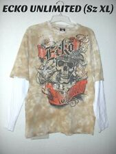 ECKO UNLIMITED Youth Young men Sz  XL Layered Look Lg Sleeve Tie Dye Tee  Shirt