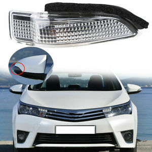 Side Amber Car Rearview Mirror Turn Signal LED Lamp For Toyota Avalon 13-17