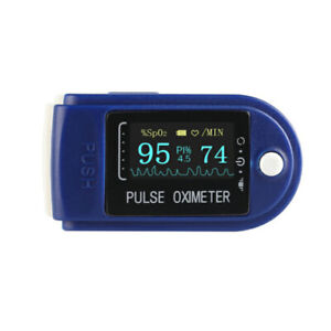 Oximeter Ox Fingertip Blood Oxygen Monitor Colour 4 Display Directions SpO2 50D