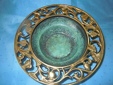 OPPENHEIM ISRAEL ORNATE BRASS ASHTRAY BOWL DISH JEWISH NICE QUALITY