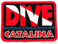 DIVE CATALINA EMBROIDERED PATCH SCUBA DIVING FLAG LOGO IRON-ON TRAVEL SOUVENIR