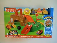 NICE PLAY SET Fisher-Price Little People Wheelies Play ' N Go CONSTRUCTION SITE