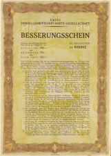 Danube Steamship Company > 1927 German bond certificate river Besserungsschein