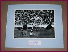 More details for genuine mike summerbee manchester city hand signed photo mount + coa proof