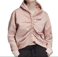 Adidas Womens Rouched Ruched Hoodie Size Large New NWT