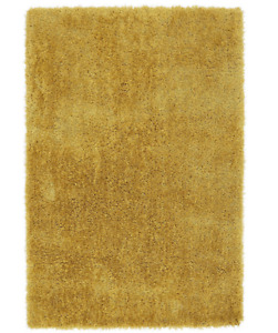 DIVA GOLD YELLOW Shaggy Area Rug 200 x 300cm Easy Living