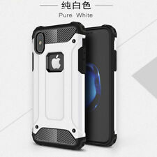 For iPhone X 8 Plus 2 in 1 Armor Case Hybrid PC Carbon Fiber Rugged Rubber Cover