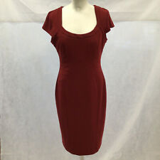 Womens Size 14 M&S Woman Claret Coloured Secret Support Cap Sleeve Shift Dress