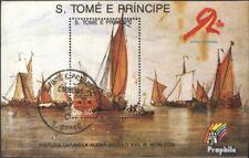 Sao Tome e Principe Block 202 gestempeld 1989 Navigatie
