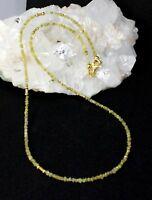 Echte Natur Roh Diamant kette Edelsteinkette Gelb Funkelnd Splitter Collier Edel