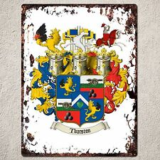 PP000065 FAMILY CREST Sign Rustic Parking Plate Home Restaurant Cafe Gift Decor