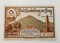 BAD LAUTERBERG NOTGELD 300 PFENNIG 1921 NOTGELDSCHEIN (11532)