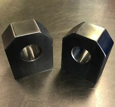 "Pair of Hex Style Weld on Recovery Shackle Mounts for use with 3/4"" bow shackles"