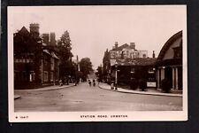 Urmston, near Salford - Station Road - real photographic postcard
