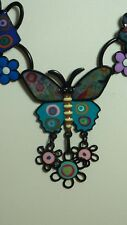 Collier ras de cou papillon bleu ciel arrosoir, bijoux LOL