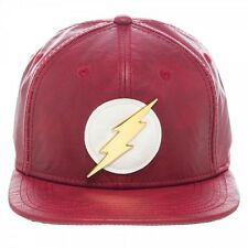 OFFICIAL DC COMICS THE FLASH SYMBOL VINTAGE STYLED PU SNAPBACK CAP (BRAND NEW)