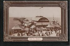 L@@K  North Pier Blackpool 1907 Postcard ~ SUPER IMAGE