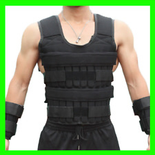 New 66 Lbs Adjustable Weighted Workout Weight Vest Fitness Training Waistcoat AA