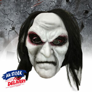 The Crow Costume Face Mask Scary Don Post Latex Halloween Zombie Horror