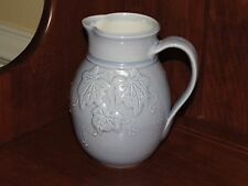 "Jensen Turnage Pottery Rare Blue Pitcher Ivy 7"" Lanexa Virginia"