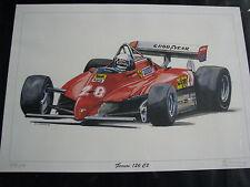 Litho in Alu frame Ferrari 126 C2 1982 #28 Didier Pironi (FRA) Eric-Jan Kremer