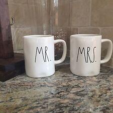 Rae Dunn Magenta Clay Coffee Tea Mug Cup Mr And Mrs Set Wedding Gift New