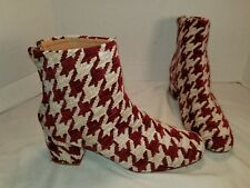 NEW FREE PEOPLE RED & WHITE MAGIC TAPESTRY BOOTS US 8 EU 38