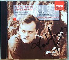 Frank Peter ZIMMERMANN Signed BRAHMS MOZART Violin Concerto CD SAWALLISCH EMI
