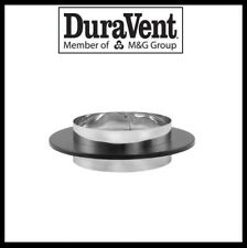 "DURAVENT DVL DOUBLE WALL/DURABLACK- 6"" Chimney Adapter with Trim #6DVL-ADC"