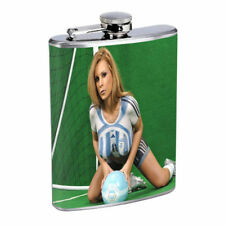 Argentina Pin Up Girls D10 Flask 8oz Stainless Steel Hip Drinking Whiskey