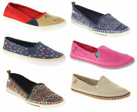 Ladies Rocket Dog Canvas Summer Slip On Espadrilles Shoes Size 3 4 5 6 7 8
