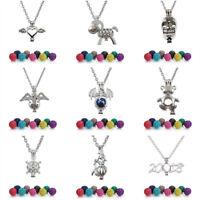 Multi-Styles Aromatherapy Necklace Locket Diffuser Lava Bead Bola Volcanic Stone