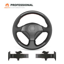 Black Leather Suede Car Steering Wheel Cover for Honda S2000 Civic For Acura RSX