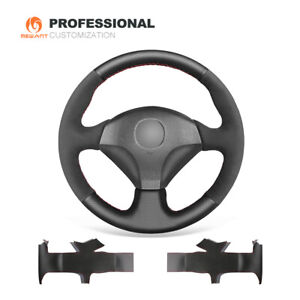 Black Leather Suede Car Steering Wheel Cover for Honda S2000 Civic Si Acura RSX