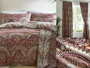 Palais Wine Multi Colour Duvet Cover Set,With Matching Curtains To Buy Separate