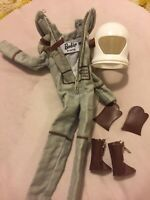 Space Astronaught Barbie Re-issue Clothing And Accesories Helmet, Gloves & Boots