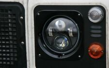"Land Rover Defender 7"" Inch LED headlights x2 DOT E Approved  SUV UK/EU 734B"