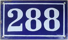 Large old French house number 288 door gate plate plaque enamel steel metal sign
