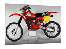 Classic Honda CR450R - 30x20 Inch Canvas Framed Picture Print