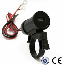 12v Motorcycle Handlebar Mount USB 2.1A Power Port iPhone Samsung Charger