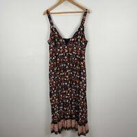 Dotti Maxi Dress 16 Petite Multicoloured Floral Sleeveless V-Neck