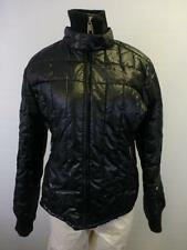 womens STEVE MADDEN zip cafe racer shiny black quilted winter Coat jacket Medium