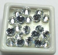 Natural White Color Zircon Round Shape Loose Gemstone Lot