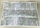 1947 Vintage Map of Switzerland St Gotthard Pass Mountain Silenen Amsteg Brienz