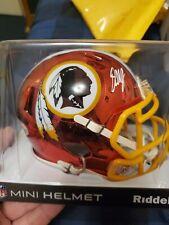Dwayne Haskins Chrome Mini Helmet Beckett Cert