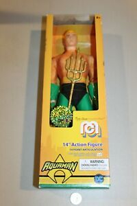 "NEW Aquaman DC 14"" Action Figure Official Limited Edition Marty Abrams Mego Toy"